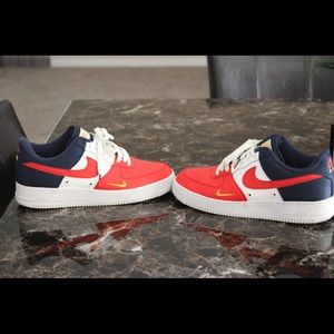 Men-Nike Air Force 1 Red Blue / size 10